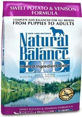 Natural Balance L.I.D. Sweet Potato & Venison