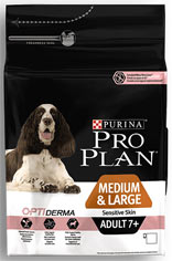 Purina Pro Plan Medium & Large Adult 7+ Sensitive Skin Optiderma