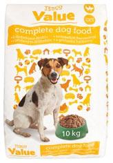 Tesco Value Kompletní krmivo pro dospělé psy s přidaným drůbežím