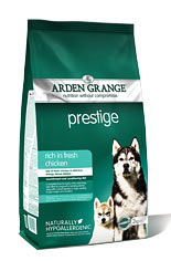 Arden Grange Prestige: rich in fresh chicken